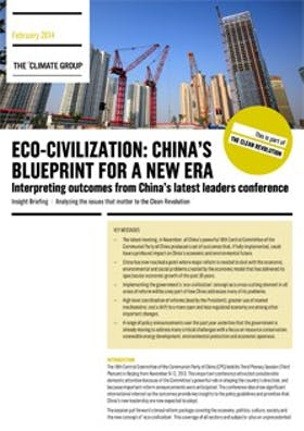 Eco-civilisation: China's blueprint for a new era