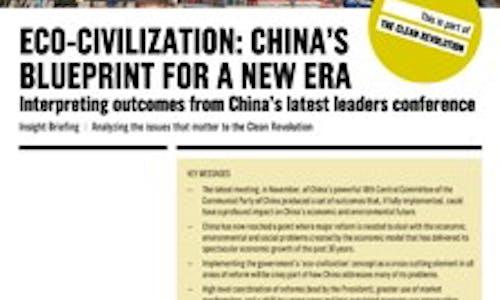 Eco-civilisation: China's blueprint for a new era