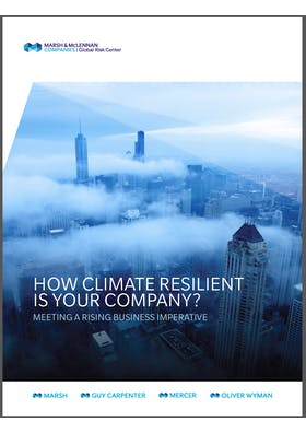 How Climate Resilient is your Company? Meeting a Rising Business Imperative