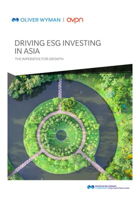 Driving ESG Investing in Asia: The Imperative for Growth