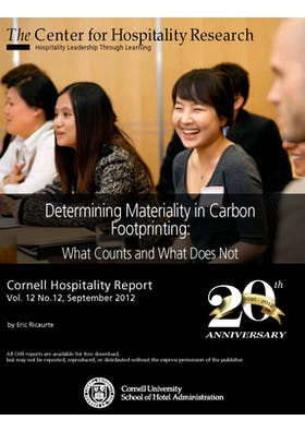 Determining materiality in hotel carbon footprinting: What counts and what does not