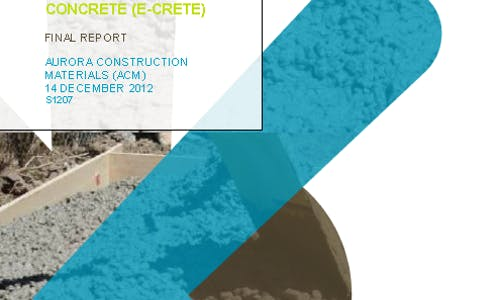Life Cycle Assessment of E-Crete