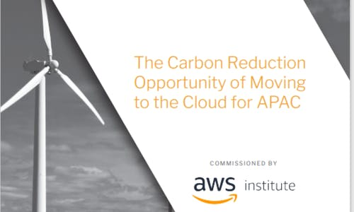 The carbon reduction opportunity of moving to the cloud for APAC