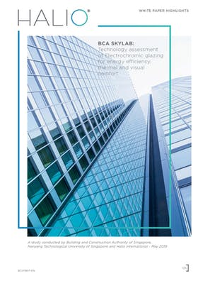 BCA SKYLAB: Technology assessment of Electrochromic glazing for energy efficiency, thermal and visual comfort