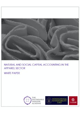 Natural and social capital accounting in the apparel sector