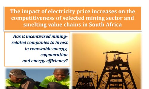 The impact of electricity price increases on the mining sector in South Africa