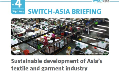 Sustainable development of Asia's textile and garment industry