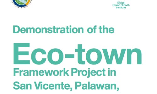 Demonstration of the eco-town framework in San Vicente, Palawan, Philippines