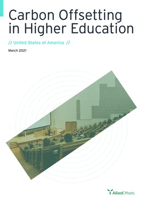 Carbon offsetting in higher education