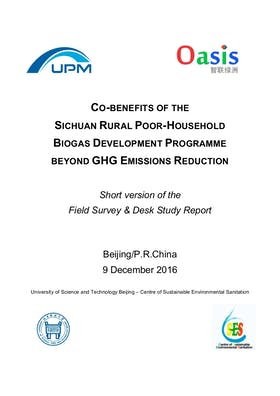 Co-Benefits of the Sichuan Rural Poor-Household Biogas PoA