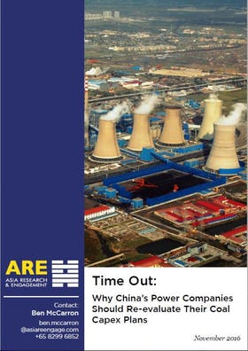 Time out: Coal Capex in China