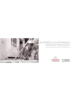 Business and sustainable disaster recovery: Rebuilding more resilient communities