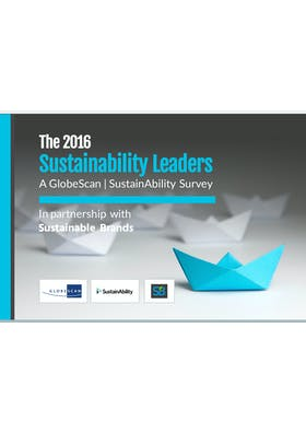 The 2016 Sustainability Leaders - A GlobeScan / SustainAbility survey
