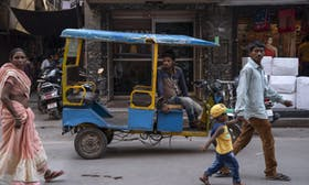 A social venture on the road to improve lives, reduce emissions with electric rickshaws