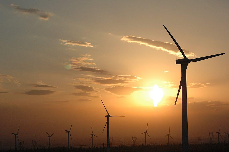 Wind turbines in Xinjiang, China