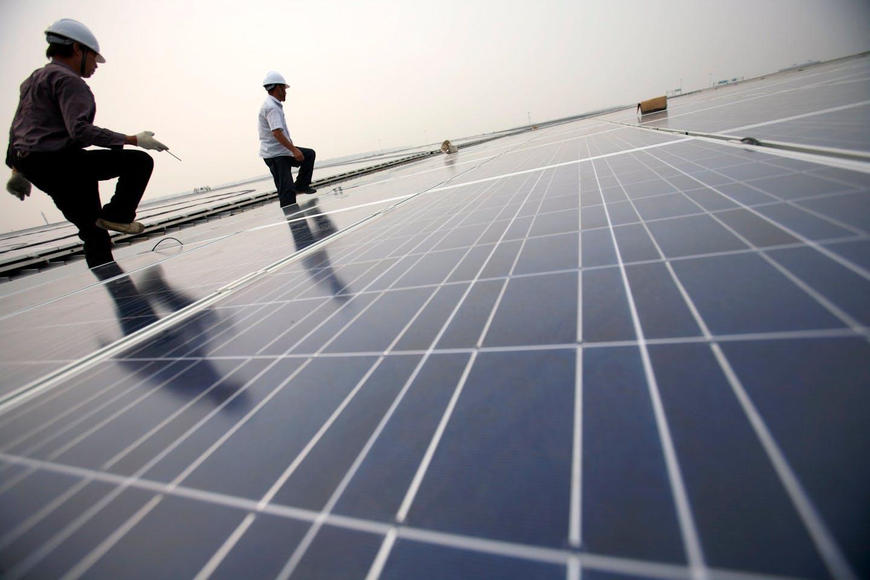 solar panels, Shanghai