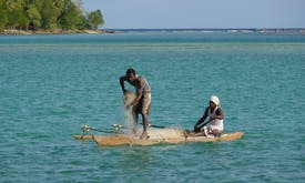 South Pacific islanders threatened by climate change and overfishing