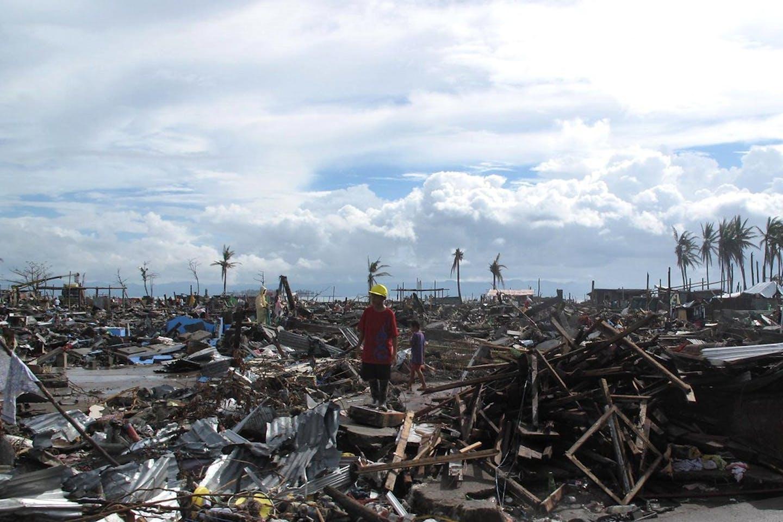 Typhoon Haiyan in Tacloban City, Philippines