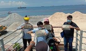 Is Manila's new white sand coast a threat to marine life?