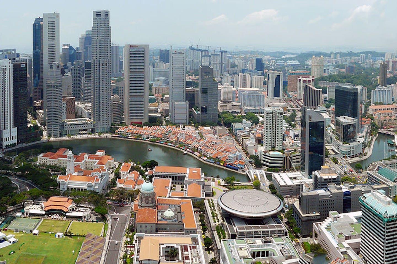 singapore aerial view of CBD