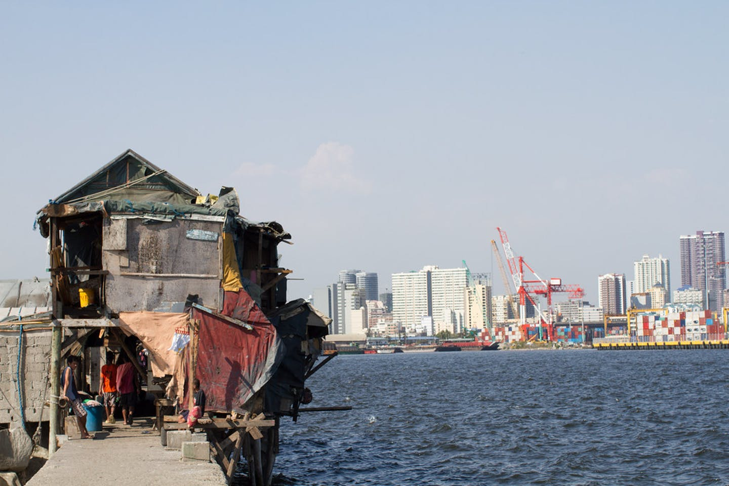 Shanties along the South Port district in Manila Bay