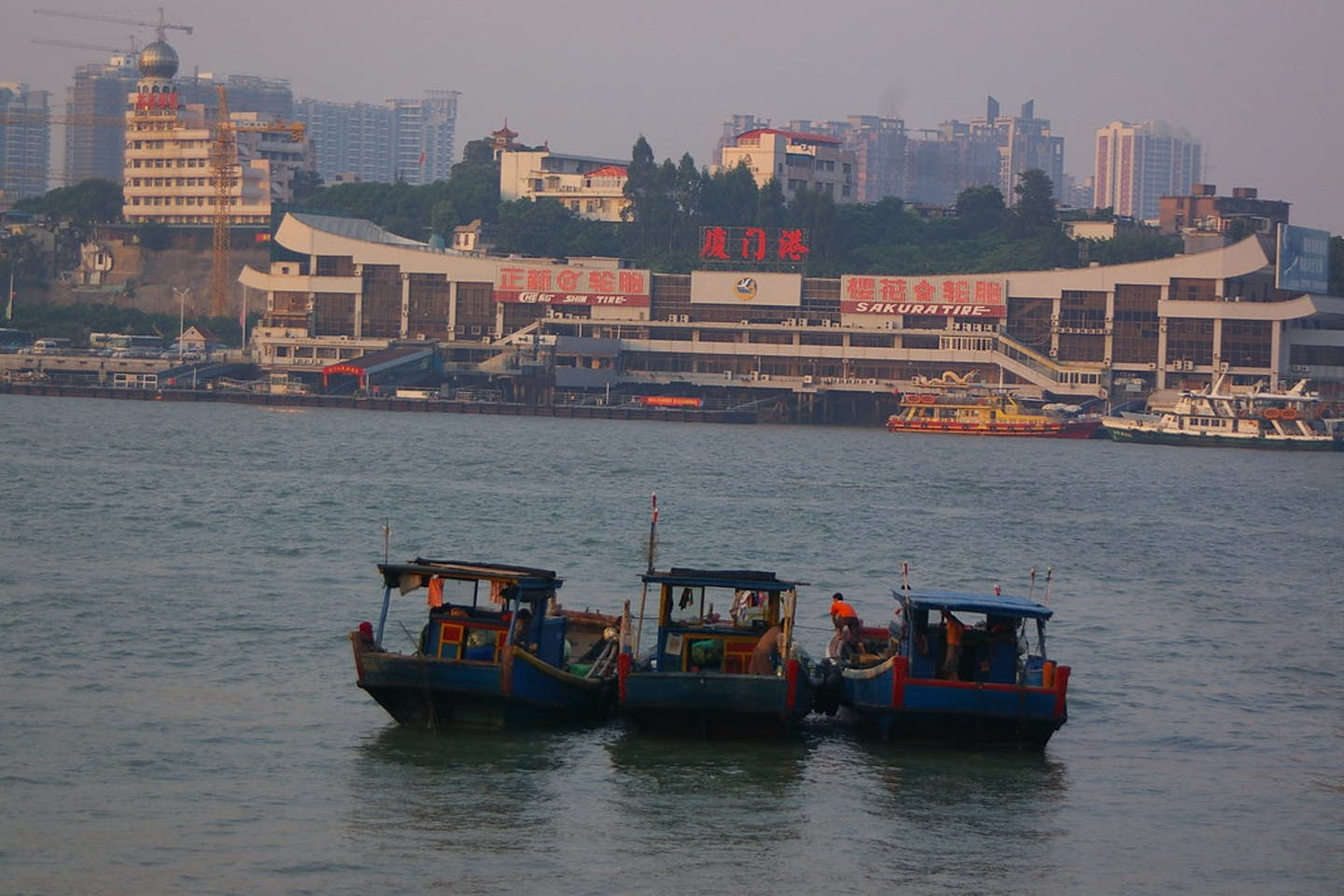 Fishing vessels in front of Xiamen, China