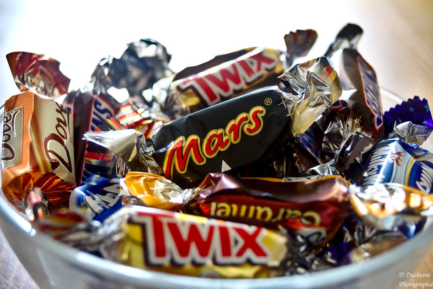 Different brands of Mars chocolate