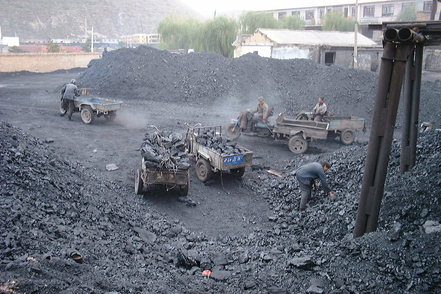 Coal miners at Lao Ye Temple Mine in Shanxi, China