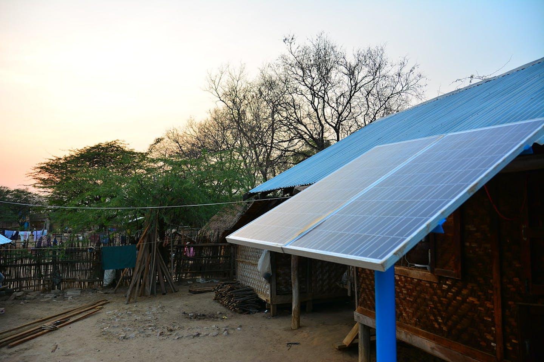 Solar installation in a village in Yone Kone, Myanmar