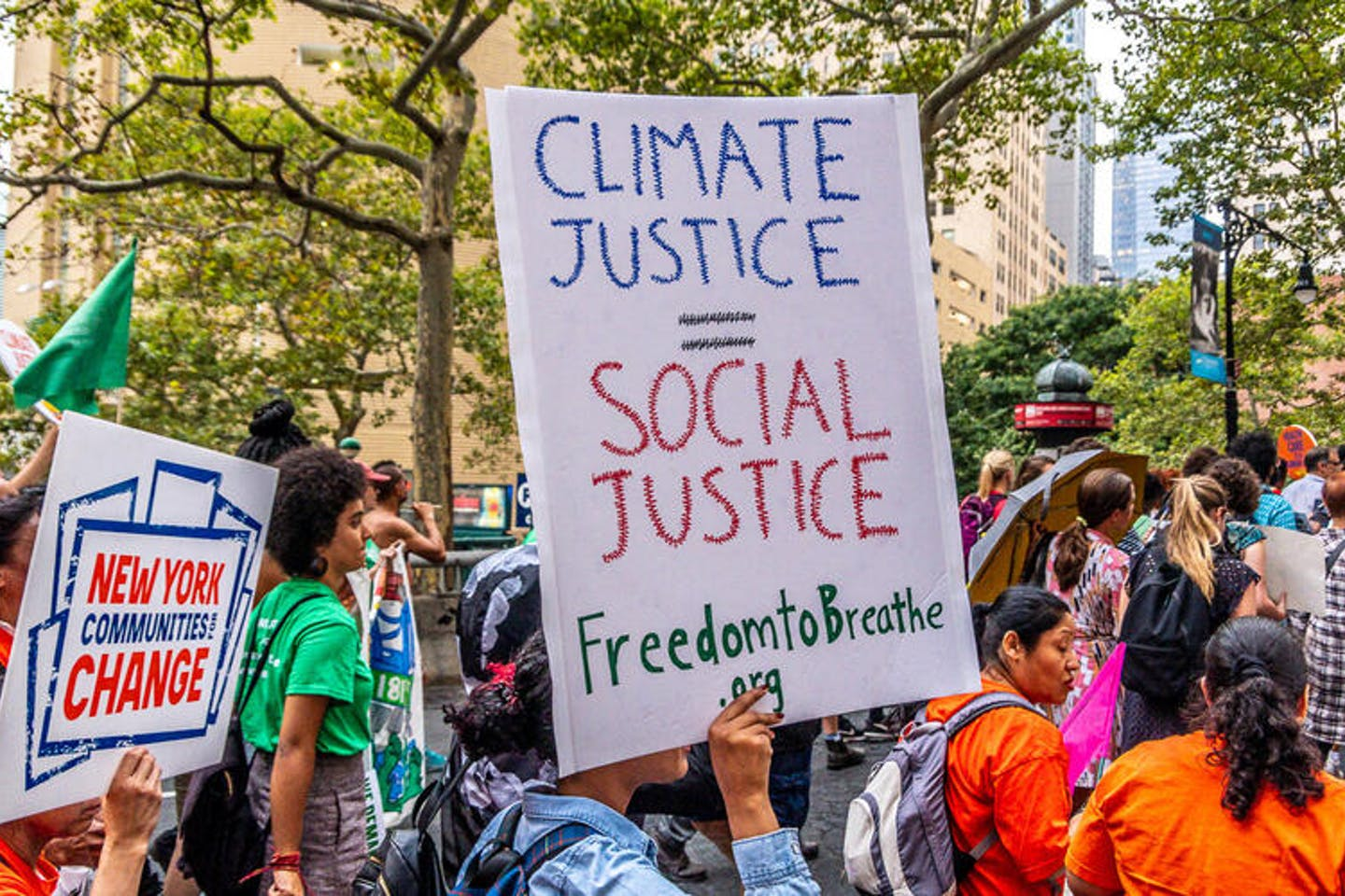 climate justice is social justice sign