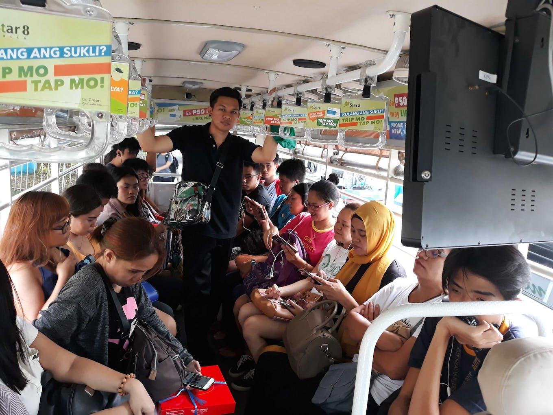 electric jeepney passengers