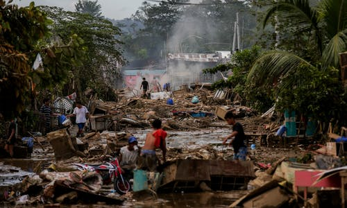 Duterte blames climate change for typhoons in the Philippines