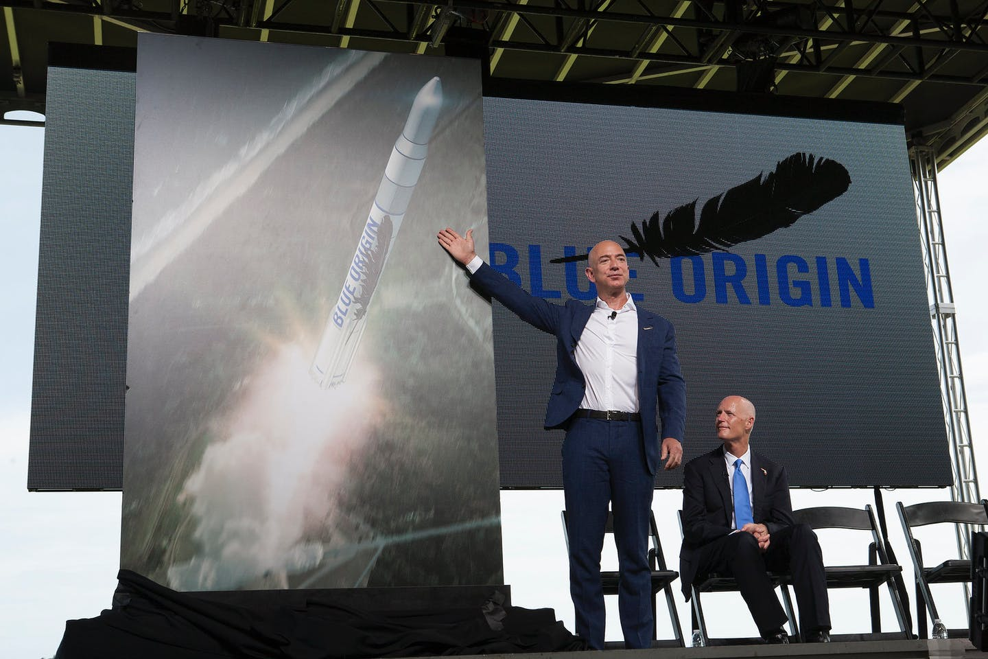 Jeff Bezos, founder and CEO of Blue Origin