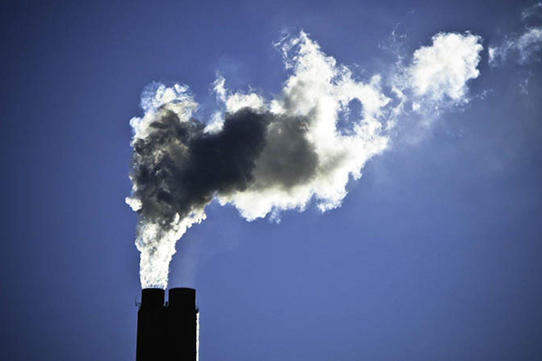 smokestacks at a power plant