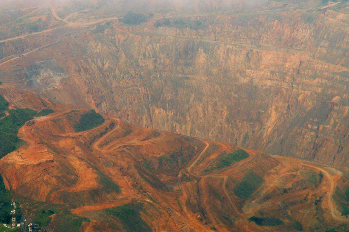 open pit mine in central Cebu, Philippines