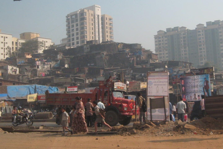 slum in Mumbai, India