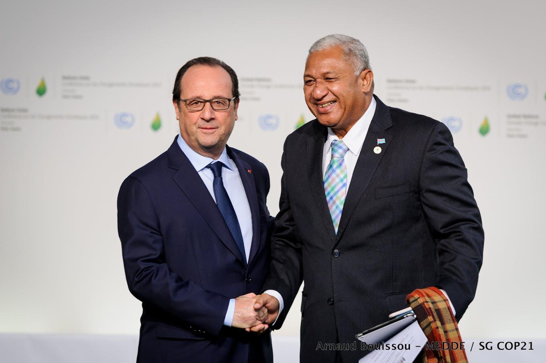 frank bainimarama at COP 21