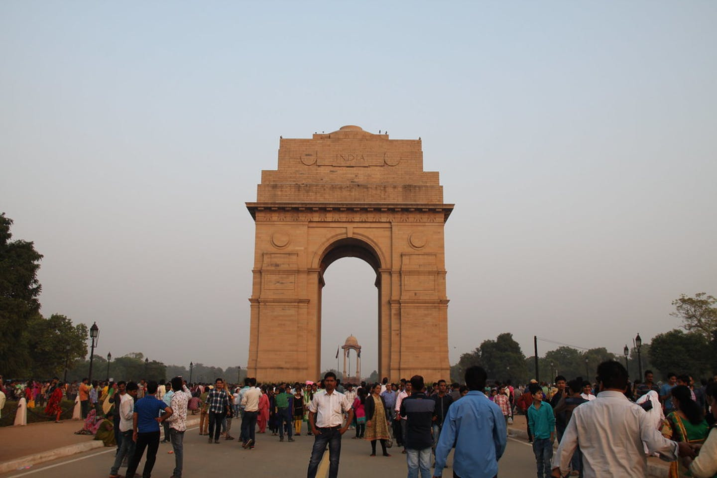 India Gate war memorial in New Delhi, India