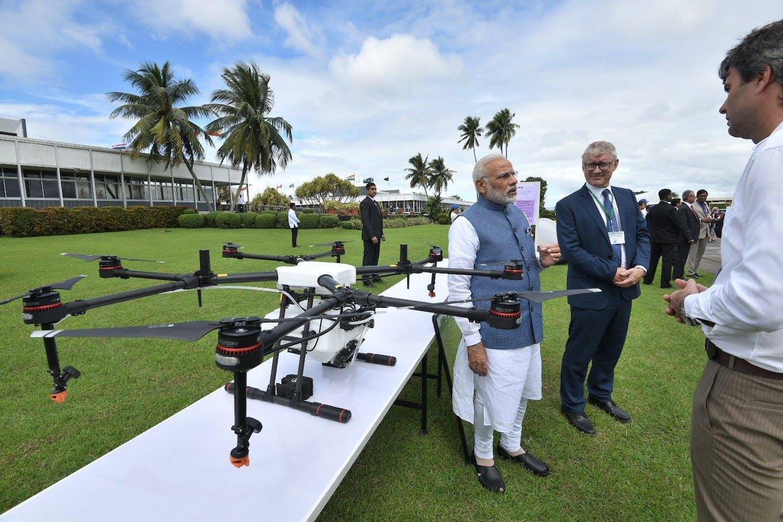 IRRI drone Prime Minister Narendra Modi