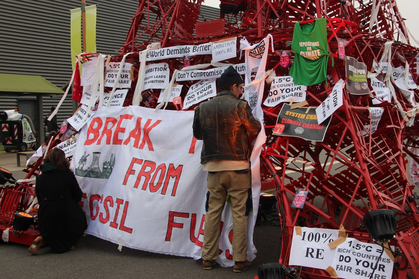 Activists protest against fossil fuel COP21
