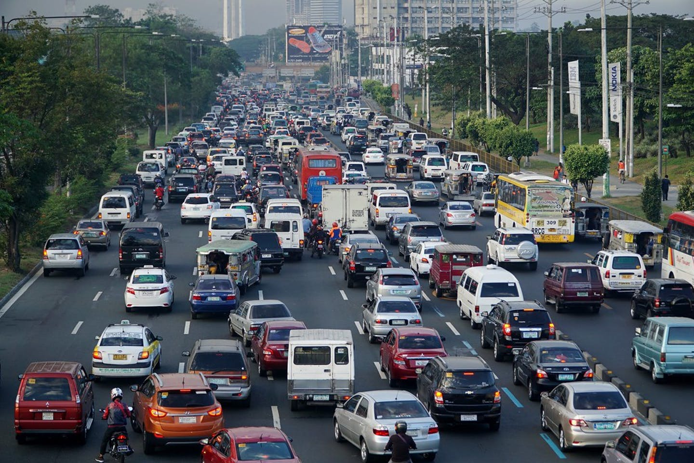 Traffic jam in Metro Manila