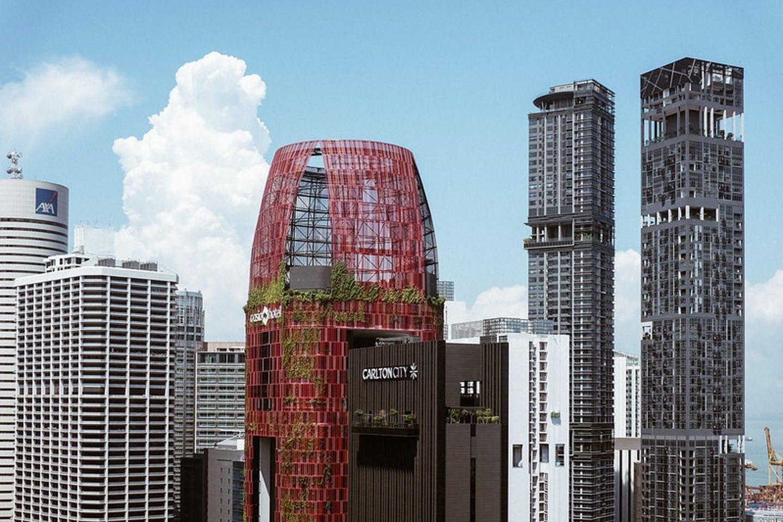 The Singapore cityscape