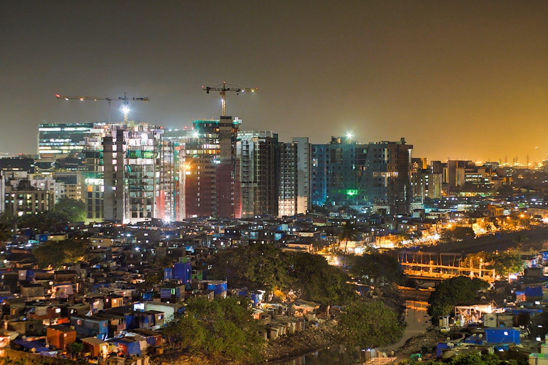 mumbai india city slums