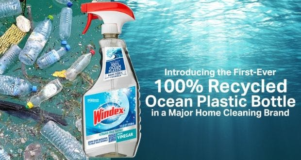 An advertisement for Windex window cleaner