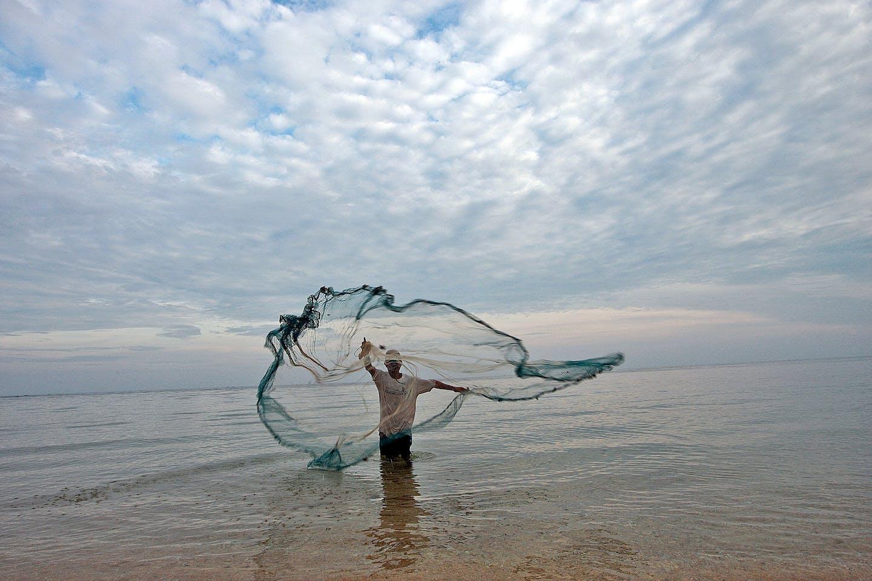 fisherman in timor leste