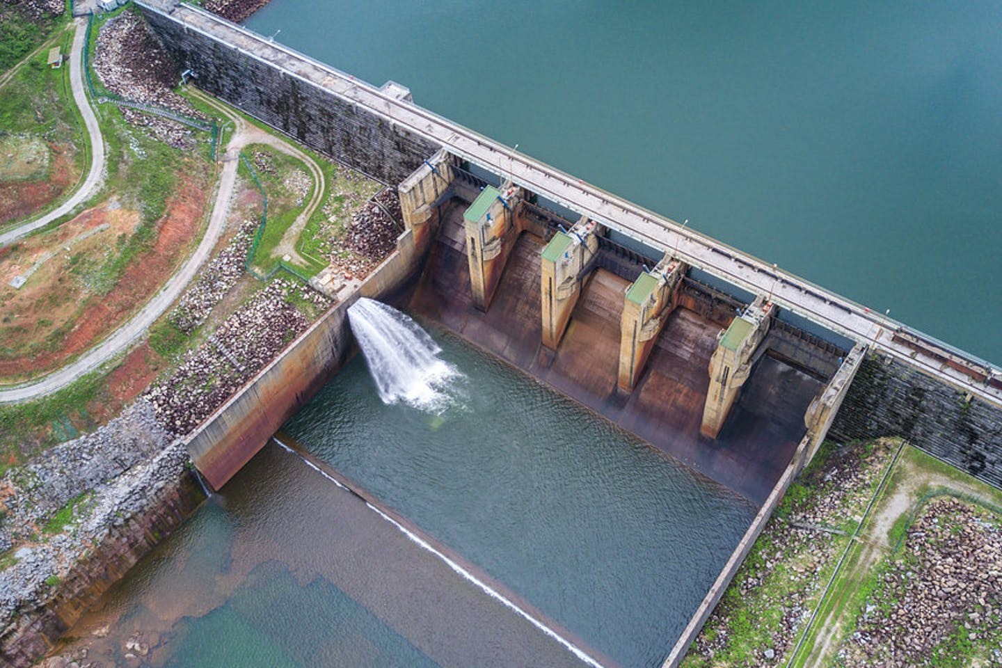 hydropower plant on Nam Theun river in Laos PDR