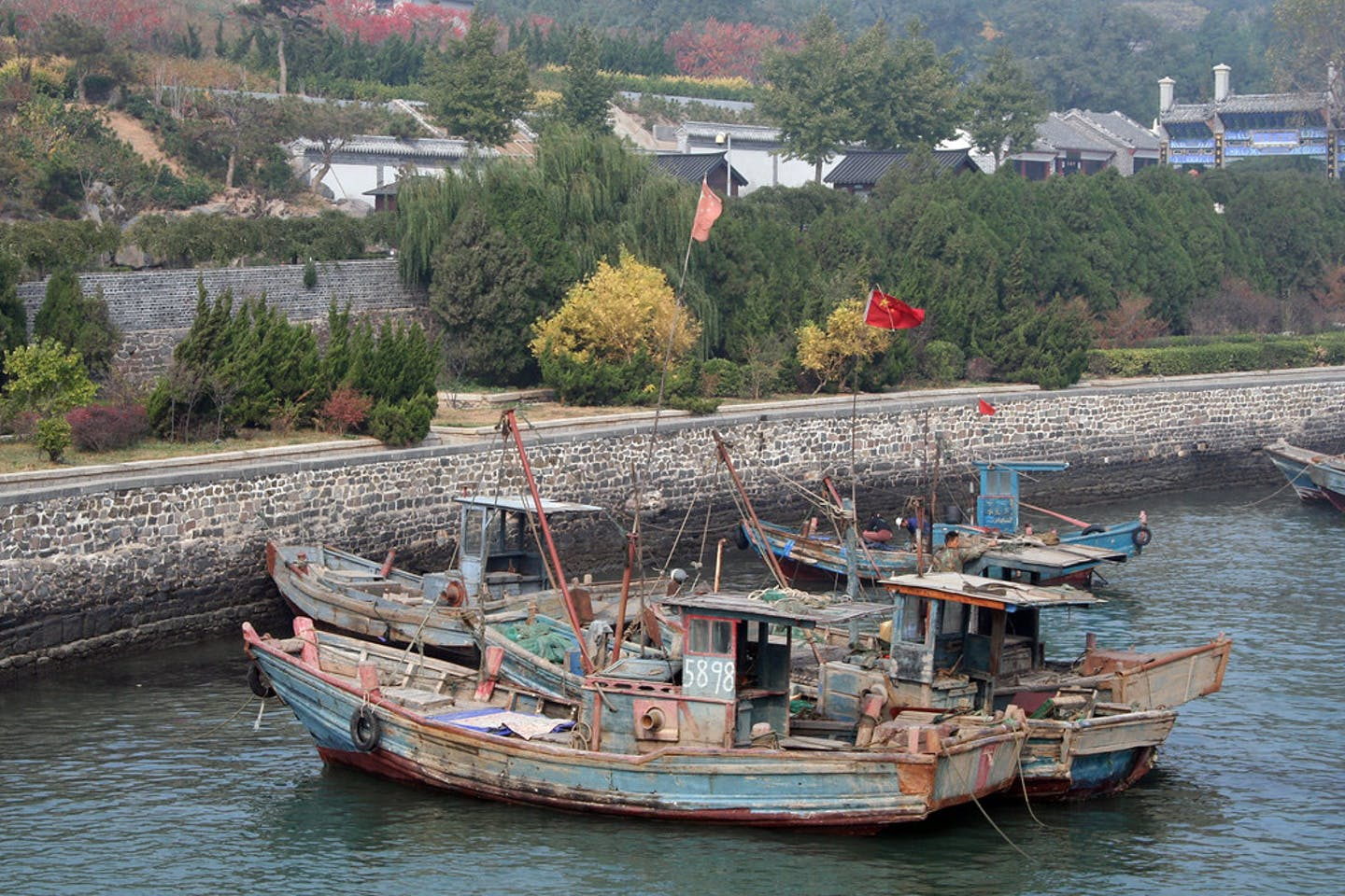 Old fishing boats China