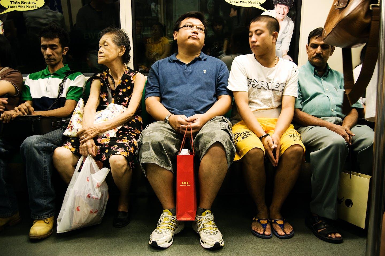 Singaporeans on the MRT