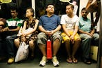 Singaporeans on the MRT
