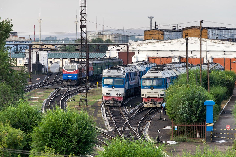 Chinese-built locomotives in Kazakhstan